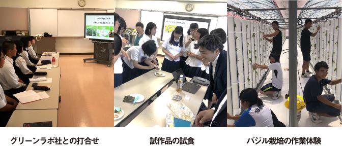 佐賀商業高校とグリーンラボが、 佐賀産バジルで商品を共同開発!